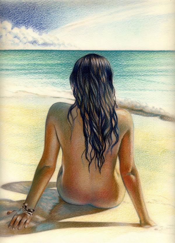 imagen chica playa: